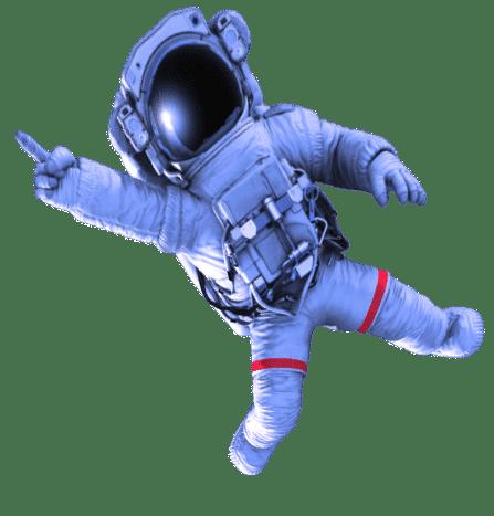 astronaut zonder